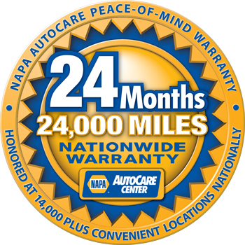 NAPA 24 Month / 24000 Miles Warranty | Brookside 66 Service
